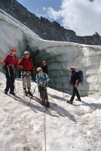 crevasse du glacier de la Girose